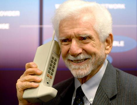youd be pretty happy if you invented the mobile phone too...