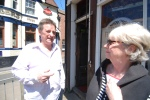 Martyn Hillier outside The Butcher's Arms, Herne