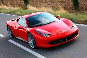 A red sports car